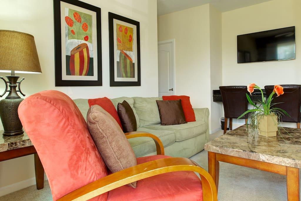 Vacation Condo Living Room