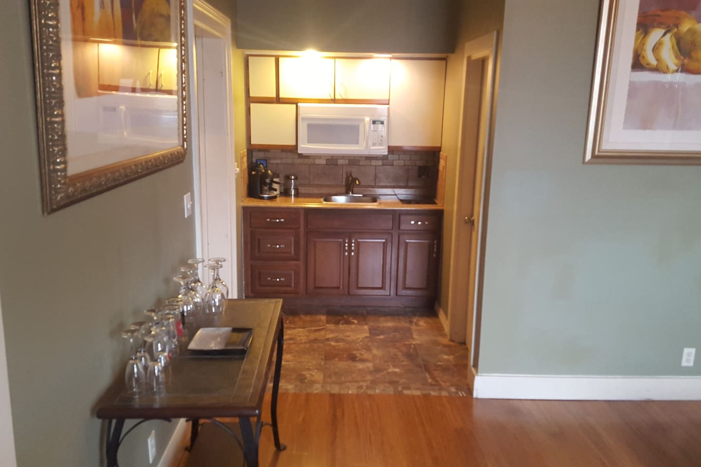Kitchen from Living Room area.