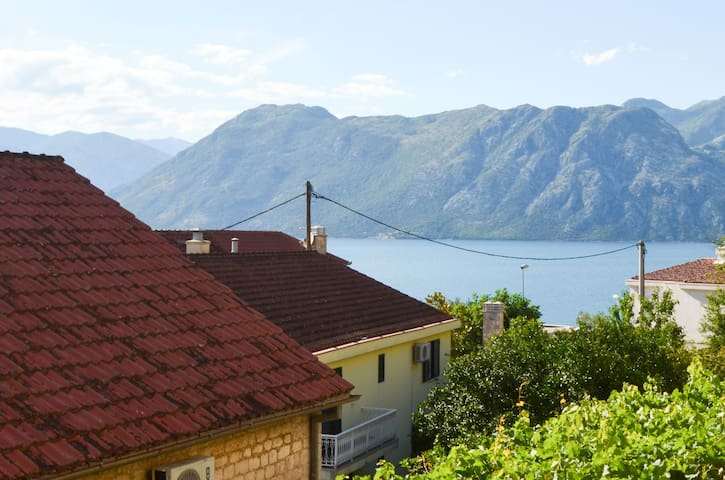 Seafront apartment with terrace in Kotor