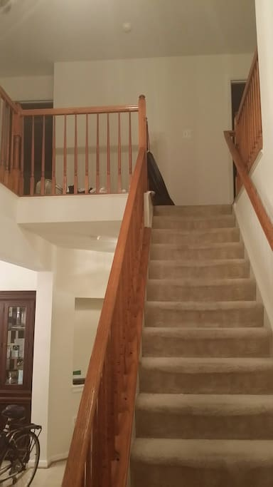 2nd Floor Steps to Private Bedroom and Shared Bathroom