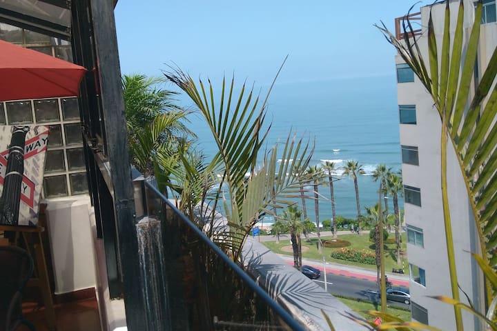 """9"" Oceanview nice private bedroom bath & terrace"
