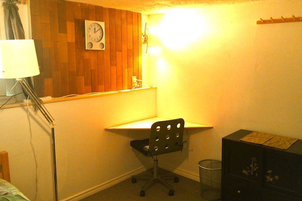 The Green Room: desk and dresser