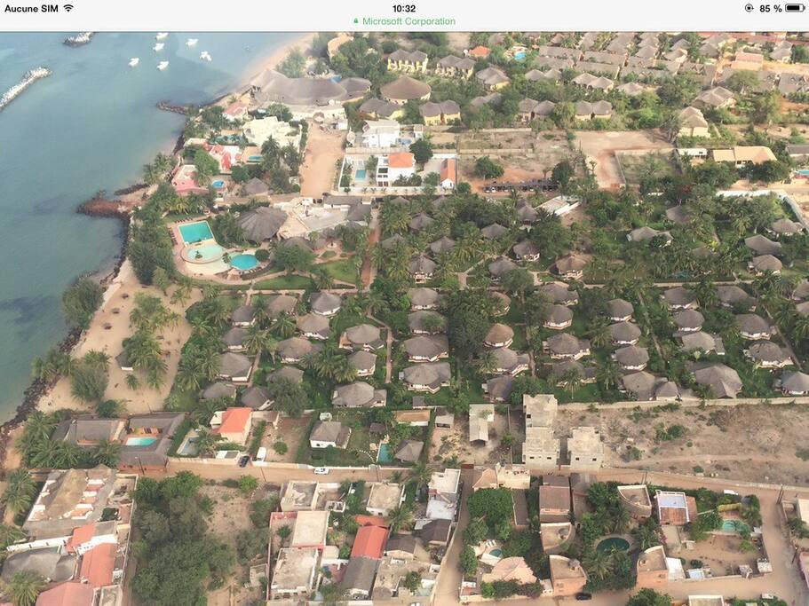 Jardin d'Afrique vu du ciel
