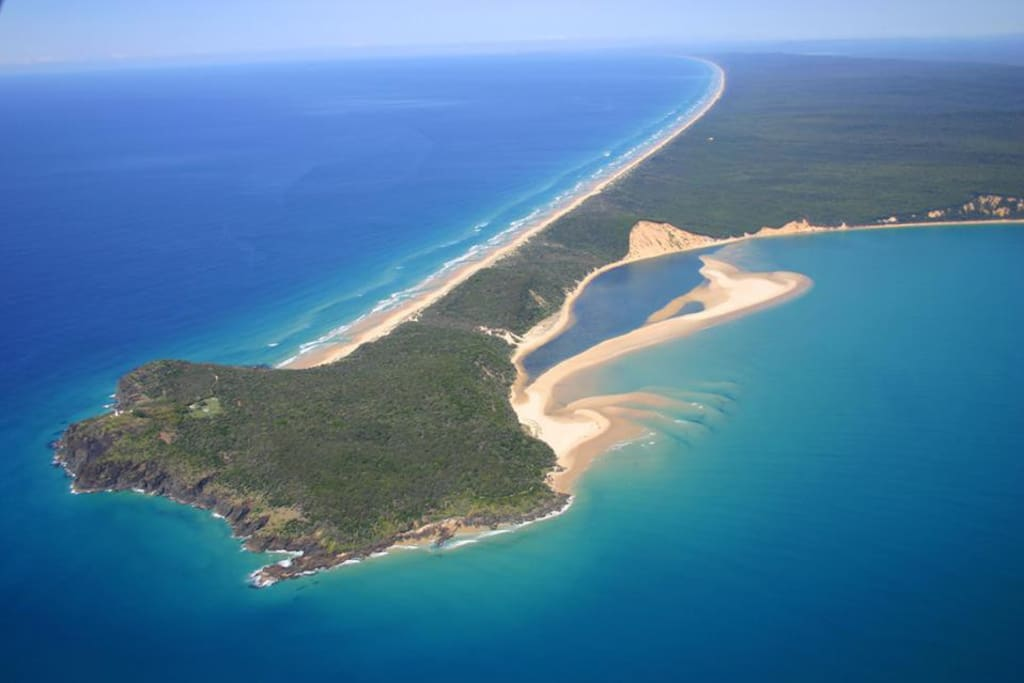 Airial of Rainbow Beach & Double Island Point
