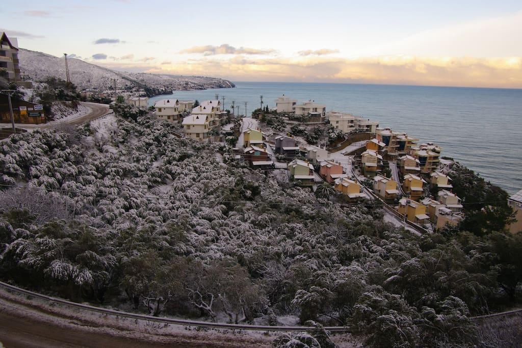 le paysage d'hiver.