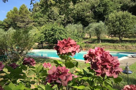 Hidden guest house with pool view - Cabris