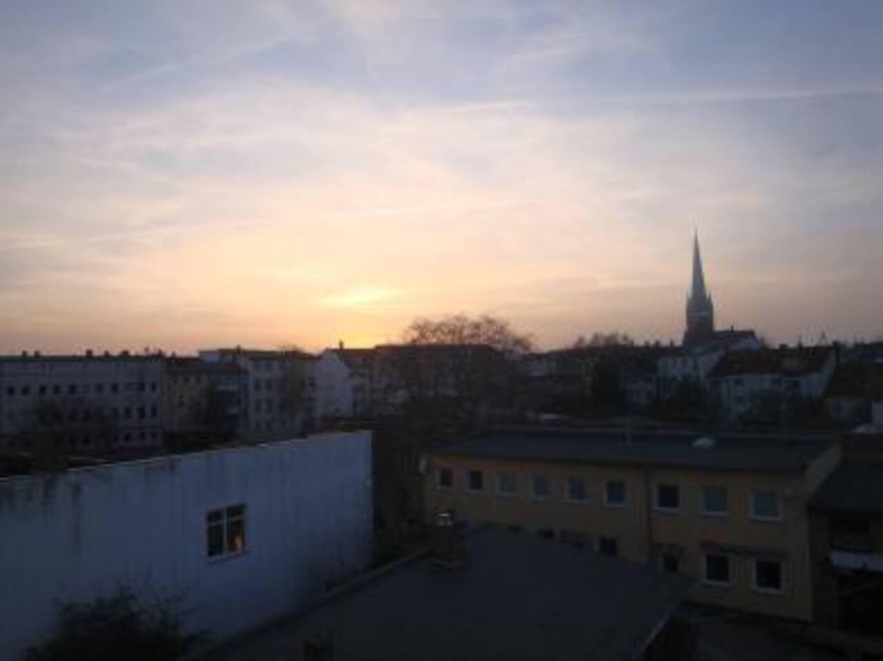 Ausblick aus der Wohnung