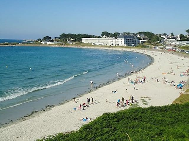 F2 front de mer, accès direct plage