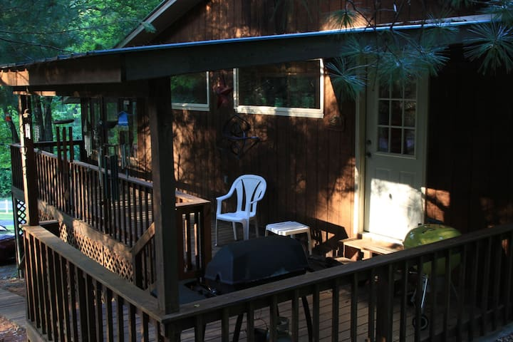 Side porch with your choice of charcoal or gas grills