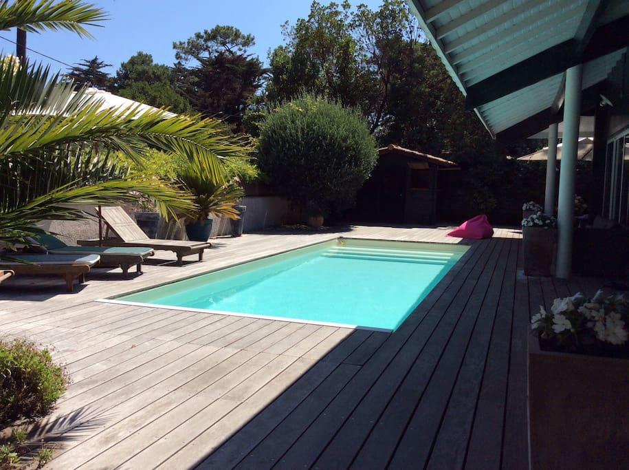 Maison de charme avec piscine maisons louer le cap for Maison a louer cap ferret avec piscine
