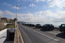 Vue vers Cannes bord de Mer