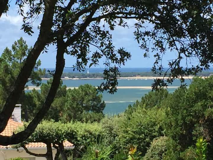 PYLA Villa 8 Personnes - Vue Bassin et Océan.