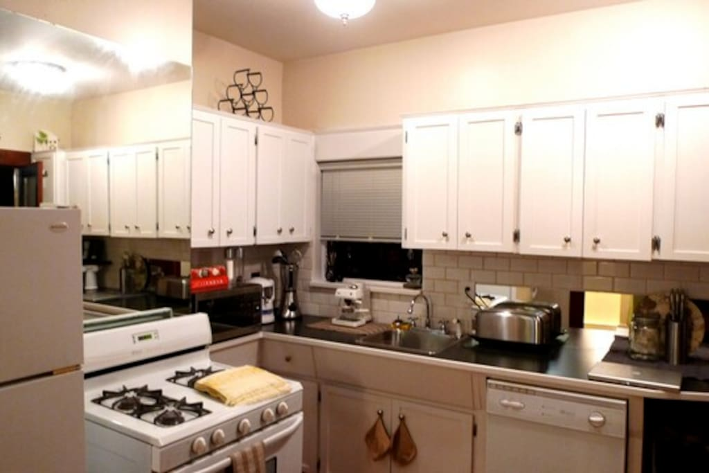 The added luxury of a full wide open kitchen, complete with all appliances available!