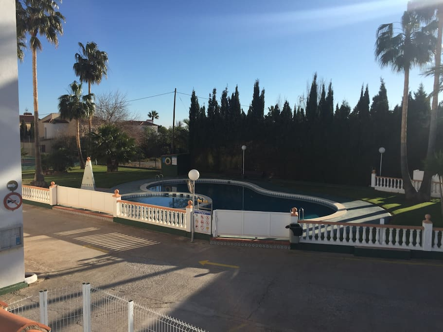 View from balcony -communal pool