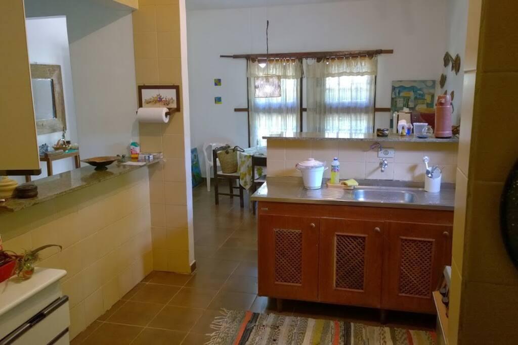cozinha e sala de almoço