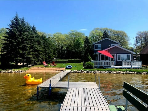 Otsego Lake Home with Beach and Plenty of Privacy