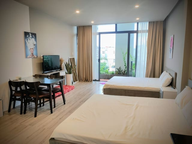 Coral Homestay 2Bed Studio Room with Bathtub