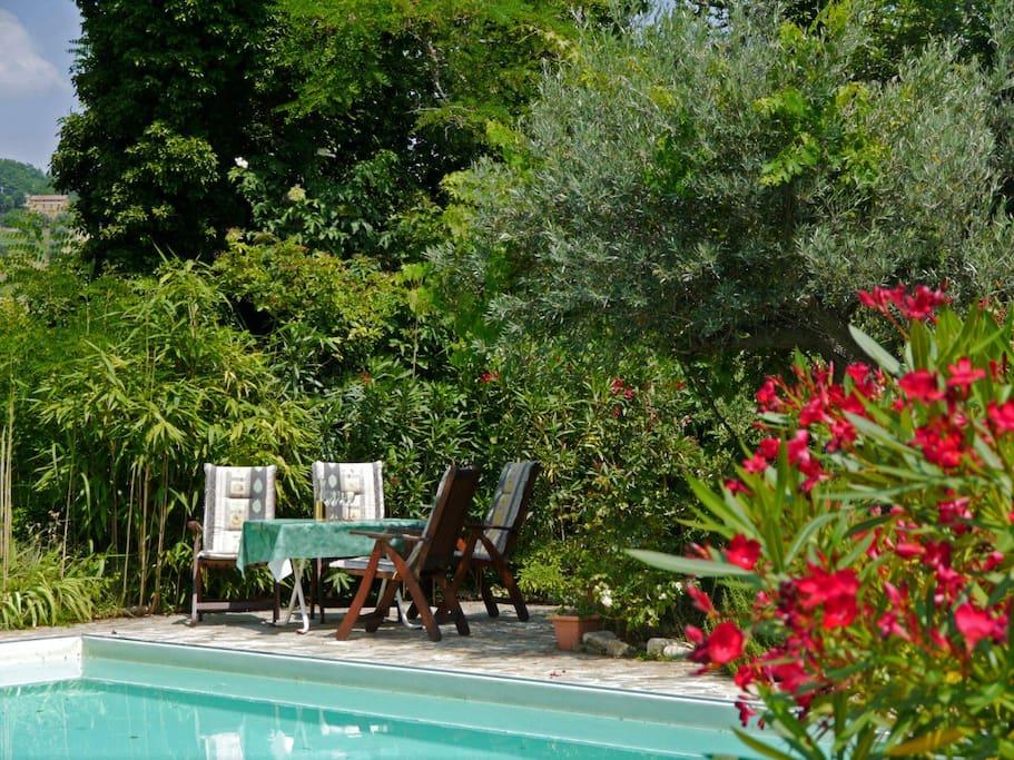 Sitzplatz Pool casa-manciano