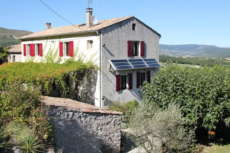 Large family house with swimming pool in Ardèche