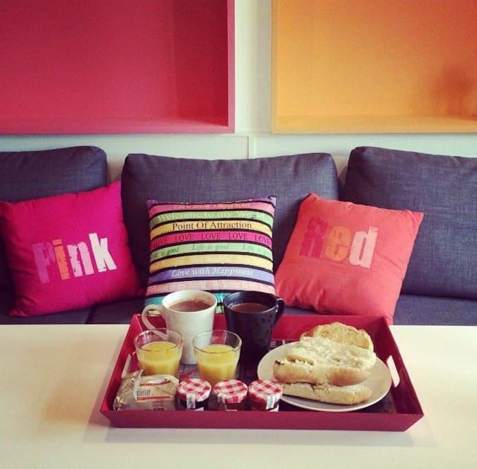 La boulangerie se trouve au 3ème étage, faites vous plaisir avec un  super petit déjeuner