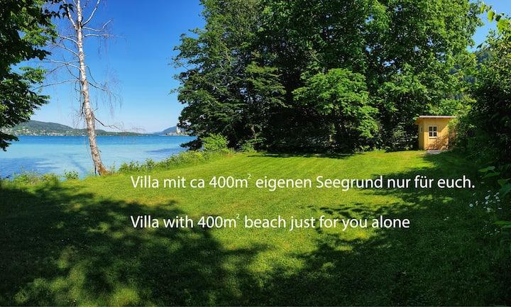 Alte Villa mit 400m2 Seegrund, Villa with beach