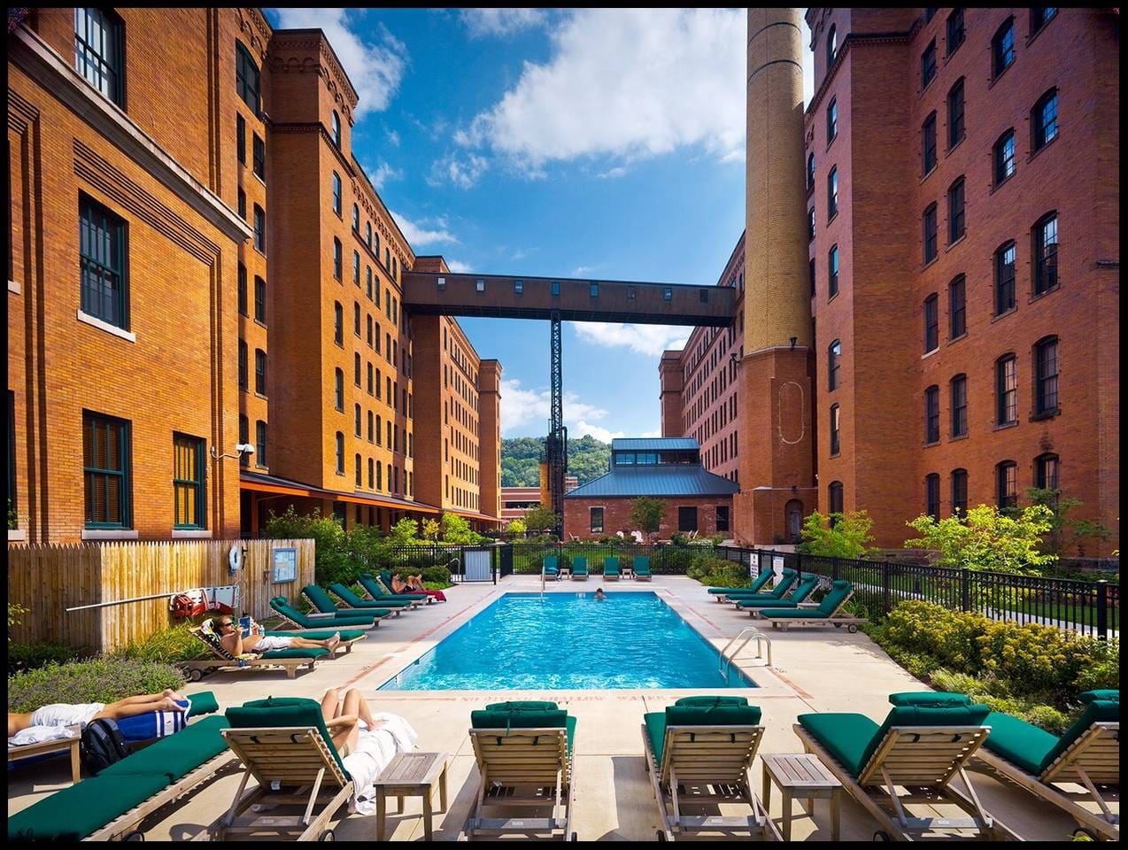 The outdoor pool is available for all guests.