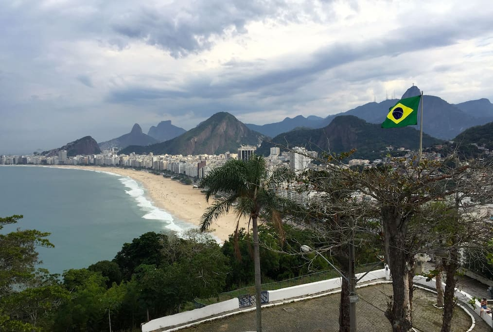 So many wonderful places to see in Rio de Janeiro -the Leme fortress