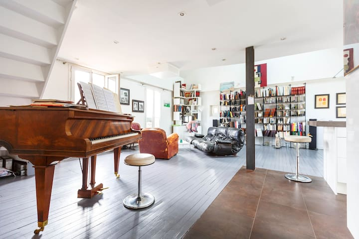 A spacious apartment close to Paris - Bois-Colombes - Loft