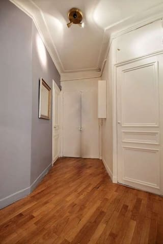 Entrance: The 8 square meters entrance hall leads directly to :kitchen, living room, bedrooms.