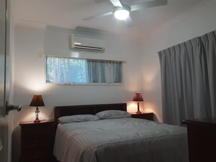 Air con private rooms with ensuites 4 people