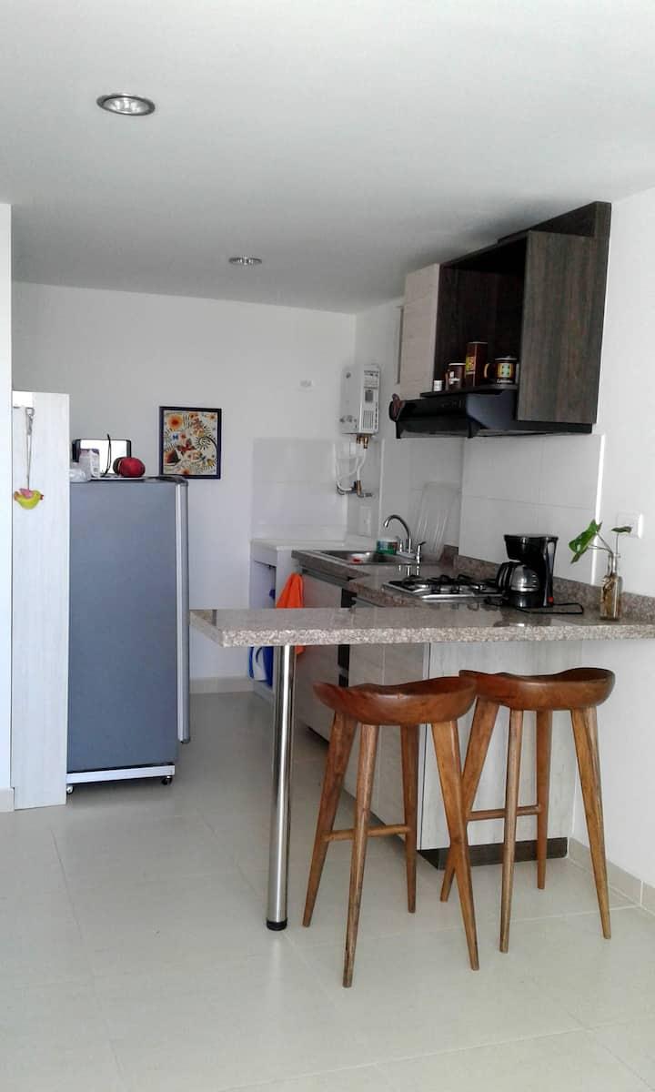 Sofacama en un acogedor apartaestudio
