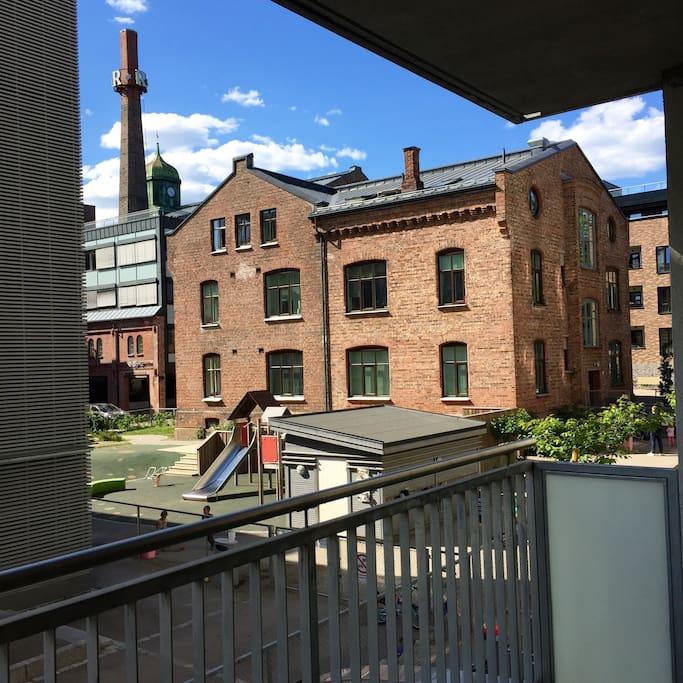 Utsikt fra stue og veranda