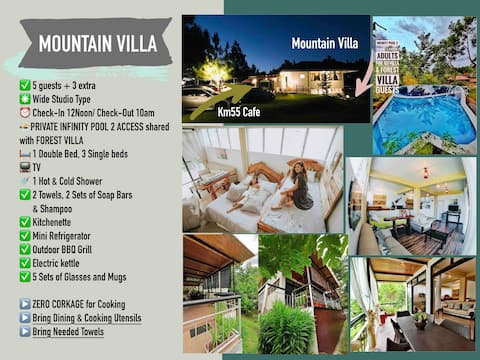 MOUNTAIN VILLA, DON SALVADOR BENEDICTO, 5 Guests
