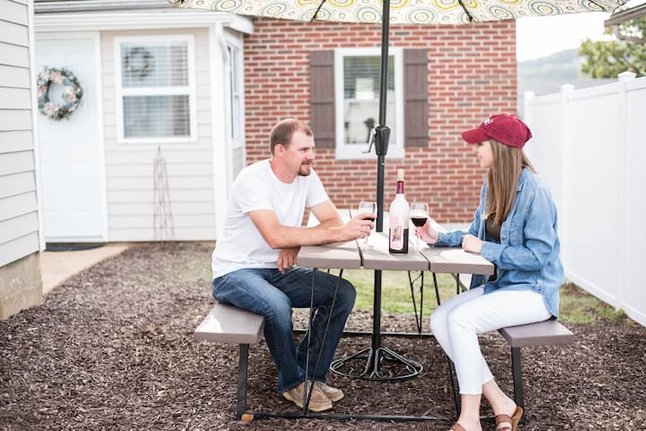 ENJOY A MEAL OUTSIDE AT THE PICNIC TABLE!