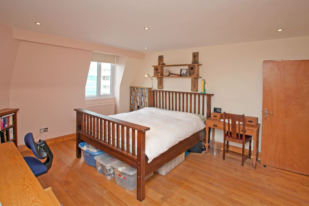 Master bedroom with double aspect windows with en suite bathroom