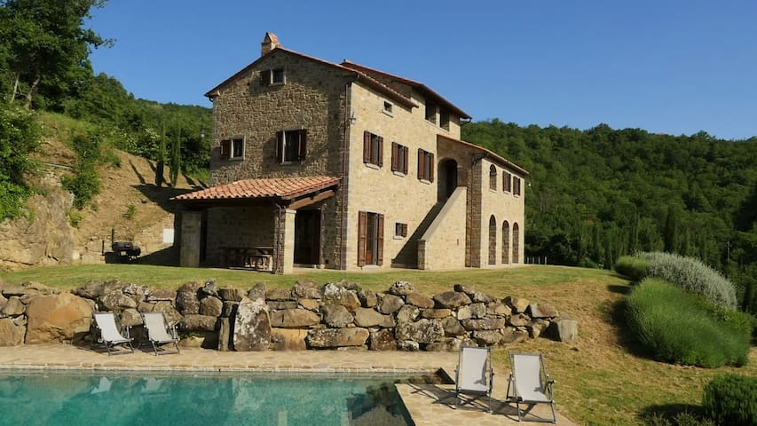 Traditional house with private pool - Montanare - Rumah