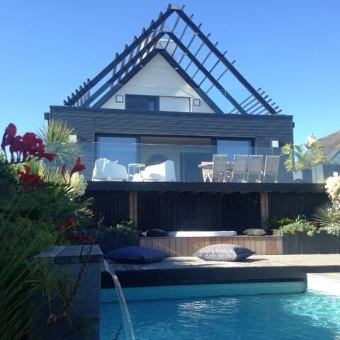 Villa Bellevue, Doelan, 5* Vue Mer, Piscine, Spa