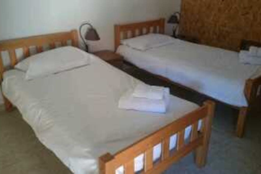 choice of double and single beds
