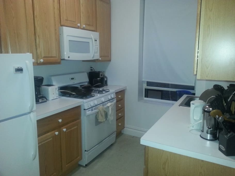 Microwave, stovetop, oven, toaster, coffee maker, etc.