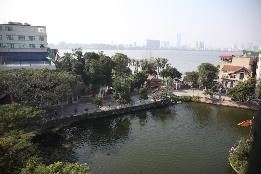 Beautiful view from the room - of West lake and local Ao Va Lake