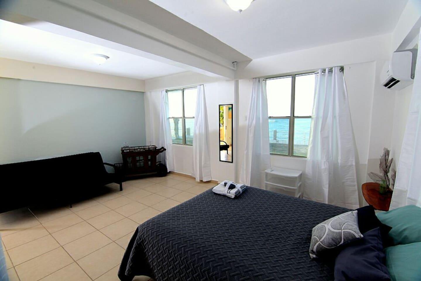 Queen Bed with Ocean View
