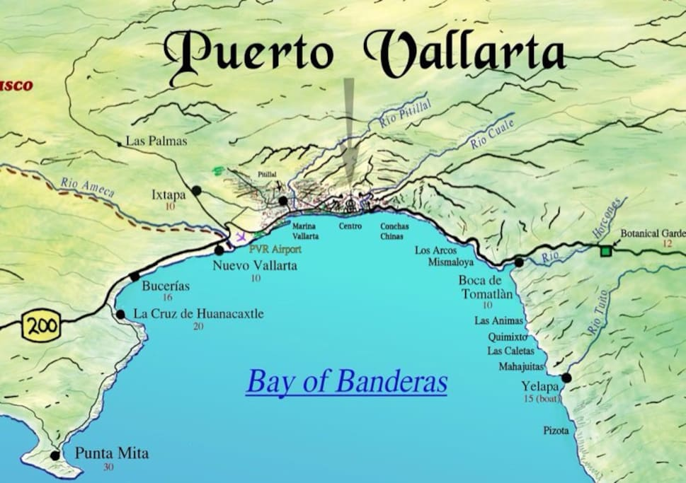 New Vallarta is located in Banderas Bay .
