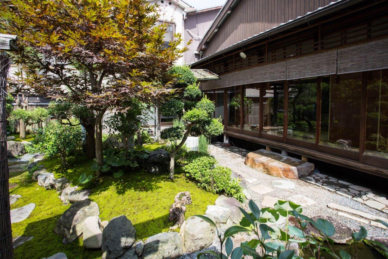 A garden in a Minsyuku.