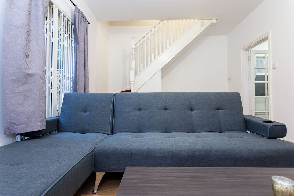 The sofa can be folded into a double sofa bed should extra guests come to stay