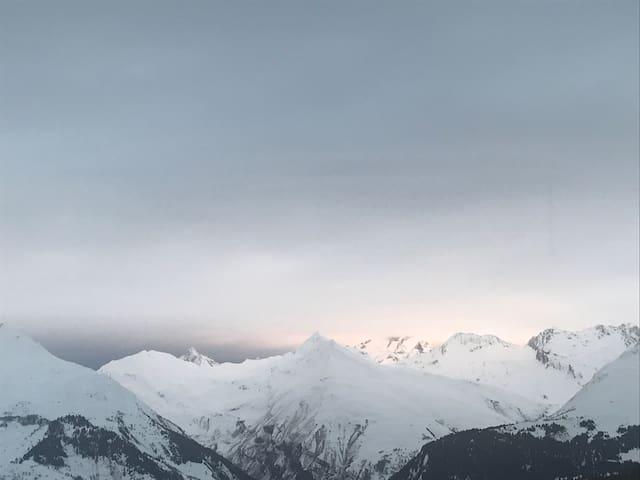 Arcs 1800, appartement cosy face au Mont Blanc