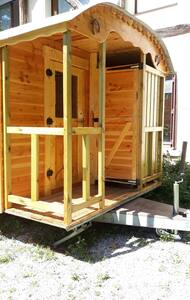 Roulotte en bois : La Bohême
