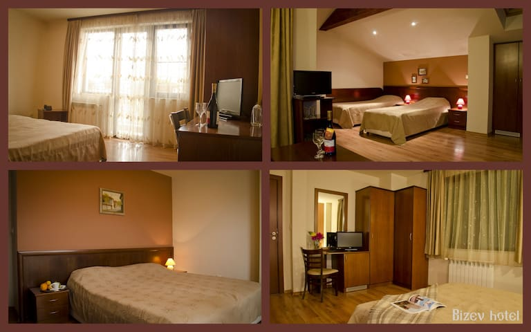 double room in guest house Bizev - Bansko - House