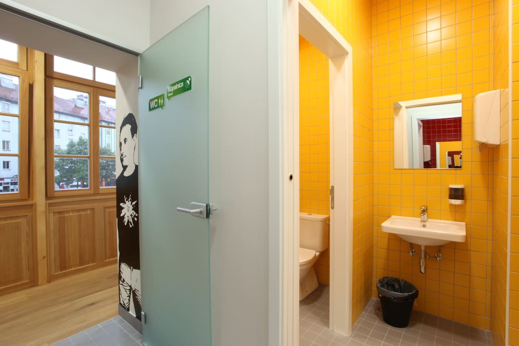 Shared bathroom and toilets