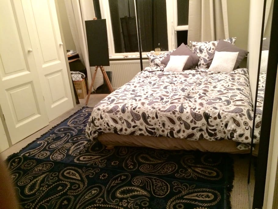 Large queen sized bed