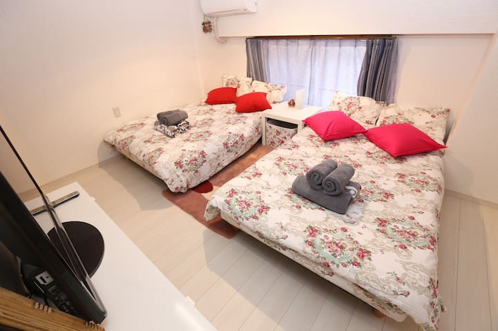 Near station 6 min/Free wifi/Max 4 guests#103